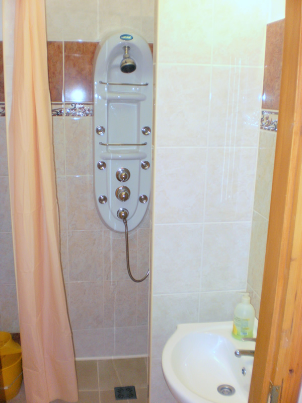 Gyula Apartment - The bathroom of the apartment