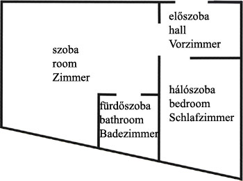 Gyula Apartment 15 floor plan - near the Castle Bath (thermal bath)